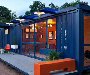 shipping container, container home, and shipping container home image