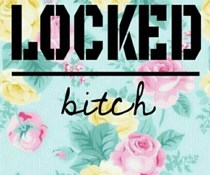 wallpaper, locked, and bitch image