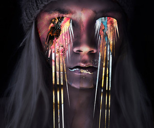 colors, girl, and eyes image