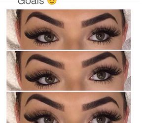 eyebrows, makeup, and eyes image