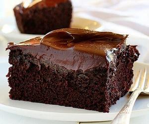 cake, chocolate, and chocolate cake image