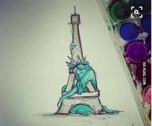 paris, pray for paris, and draw image