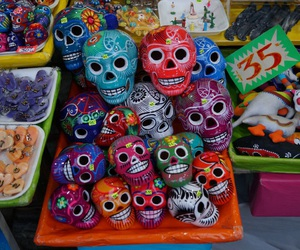 calavera, colors, and cool image