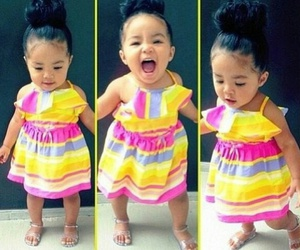 cute, baby, and dress image