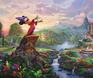 disney, mickey mouse, and fantasia image