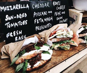 food, sandwich, and healthy image