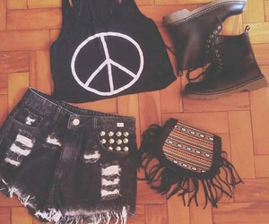 outfit, fashion, and peace image