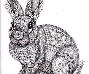 art, bunny, and drawing image