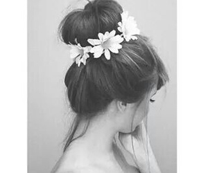black and white, cool, and flowers image