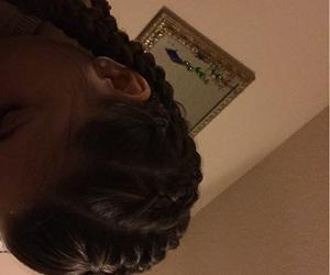art, black light, and braids image
