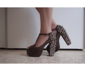 jeffrey campbell, brown heels, and jeffrey campbell shoes image