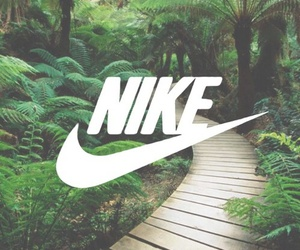 nike, green, and tree image