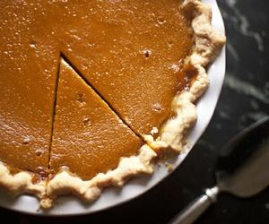 pie, Pumpkin Pie, and thanksgiving image