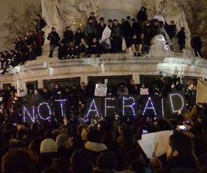 not afraid, paris, and prayforparis image