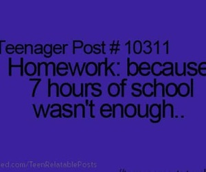teenager post, school, and homework image