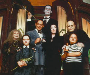 adams, dark, and addams family image