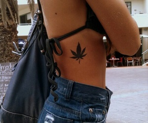 tattoo, weed, and summer image