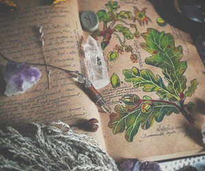 crystal, book, and witch image