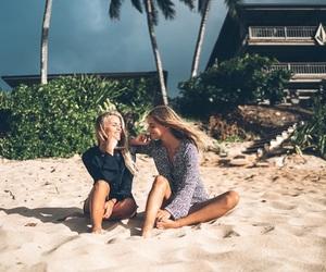 beach, beauty, and girl image