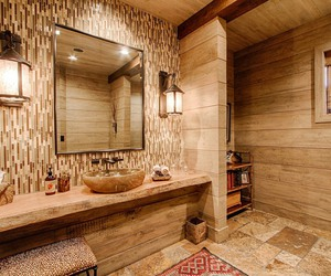 bathroom, decor, and picture image