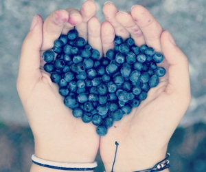 art, blue, and blueberry image