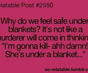 funny, blanket, and true image