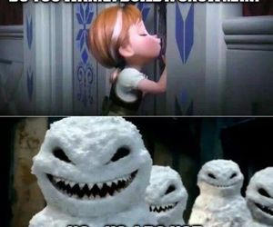 doctor who, frozen, and snowman image