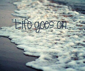 life, quote, and beach image