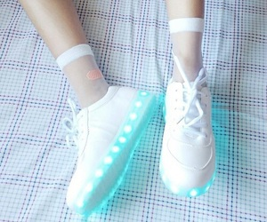 shoes, white, and blue image