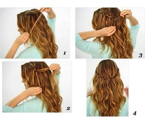 diy, Easy, and hair style image