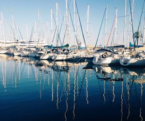 blue, boats, and cool image