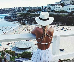 blonde, girl, and travel image