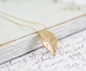 etsy, fall fashion, and gold necklace image