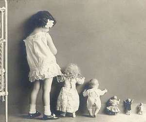 doll, girl, and vintage image