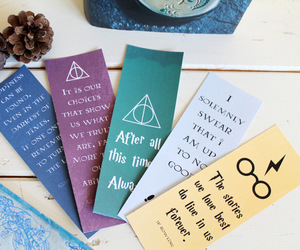 book, bookmark, and potter image
