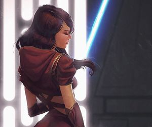 artwork, jedi, and light saber image