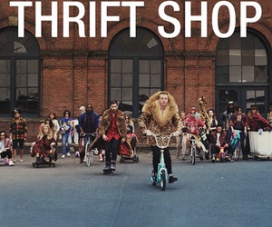 macklemore, thrift shop, and music image