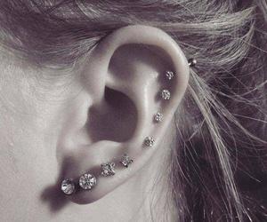 earrings, piercing, and beautiful image