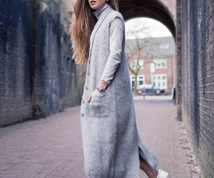 cardigan, outfit, and sweaters image
