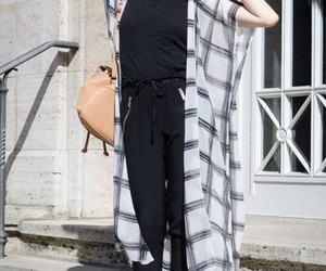 cardigan, long, and outfit image