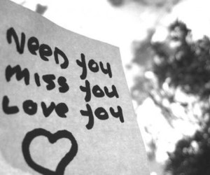 love, need, and miss image