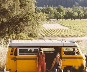70's, girls, and van image