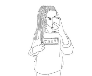 draw, iphone, and outline image