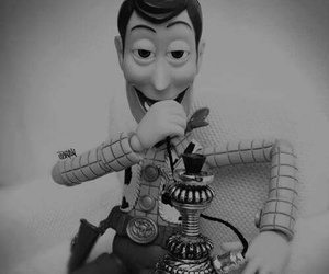 woody, toy story, and smoke image