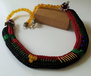 beaded necklace, etsy, and handmade necklace image
