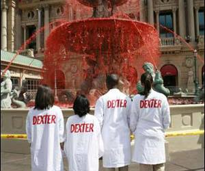 Dexter and blood fountain image