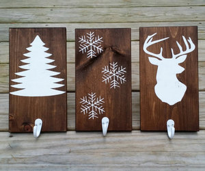 etsy, rustic christmas, and stocking holder image