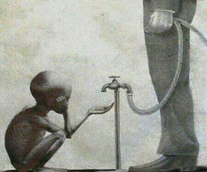 sad, poor, and water image