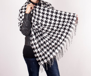 black scarf, etsy, and christmas gift image