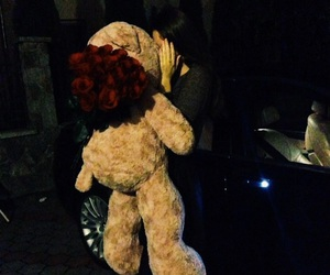 bear, flowers, and surprise image